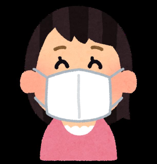 【ムホホ♡画像】JCさん、コンビニで買ったマスクをつけたら顔が隠れてしまうwwwwwwwwwwww